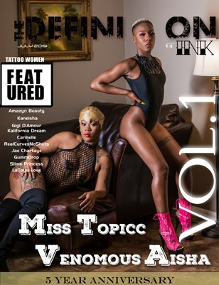 TDM:Ink 5yr Anniversary:Miss Topicc & Venomous Aisha  Vol.1 cover 3