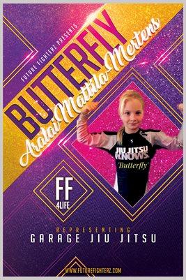 12x18 Aralai Mattila-Mertens Purple Glitter Poster (Birthday Poster)