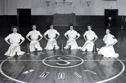 March 1, 1962 Sedalia High School Cheerleaders