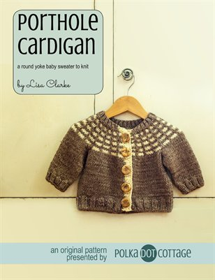 Porthole Cardigan Knitting Pattern