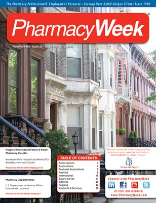 Pharmacy Week, Volume XXIII - Issue 25 - July 13 - July 19, 2014