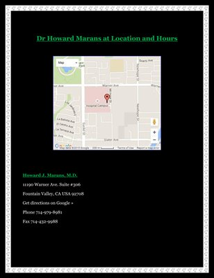 Dr Howard Marans at Location and Hours