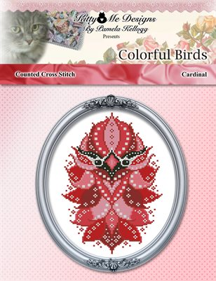 Colorful Birds Cardinal Counted Cross Stitch Pattern