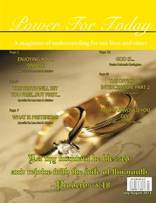 Power For Today Magazine, July/August 2013