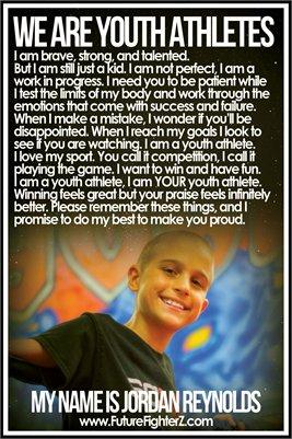 Jordan Reynolds Youth Athlete - Poster