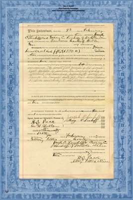 No. 6242 1893 Quit-Claim Deed Joseph C. Linhoff and wife to Barbara Conter, Scott County, Minnesota