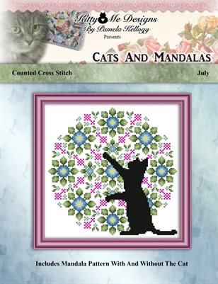 Cats And Mandalas July Cross Stitch Pattern