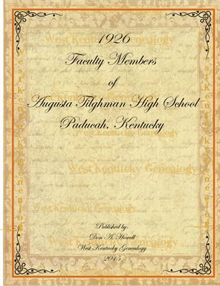 1926 Faculty of the Augusta Tilghman High School, Paducah, Kentucky