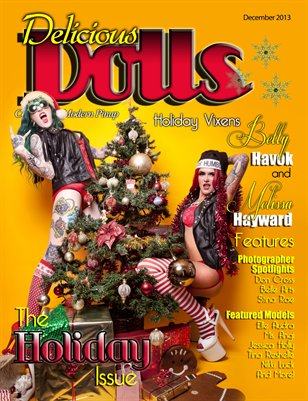 Delicious Dolls December Holiday Themed Issue - Melissa Hayward and Betty Havok cover
