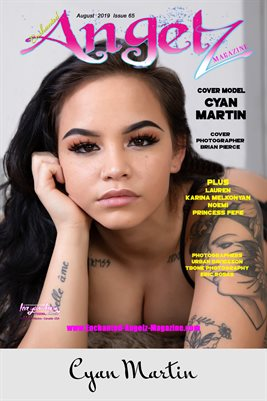 ENCHANTED ANGELZ MAGAZINE: ENCHANTED ANGELZ MAGAZINE COVER POSTER - Cover Model Cyan Martin - August 2019