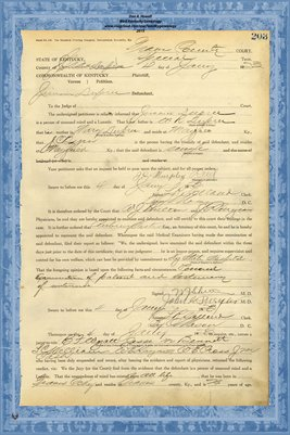 1923 State of Kentucky vs. Jimmie Dupee, Graves County, Kentucky