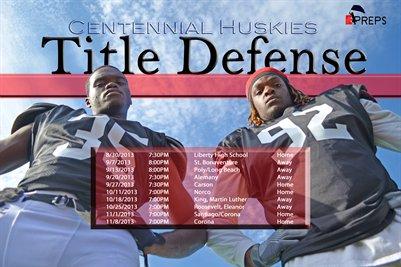 """Centennial Schedule """"Title Defense"""""""