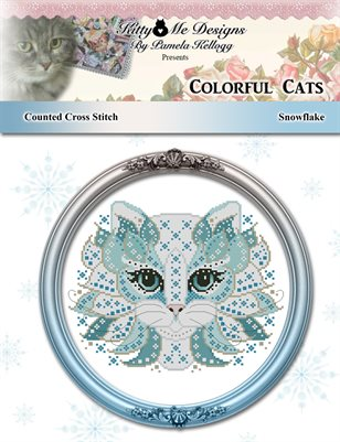 Colorful Cats Snowflake Counted Cross Stitch Pattern