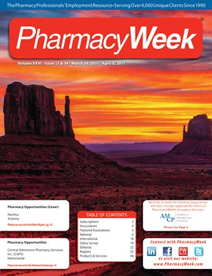 Pharmacy Week, Volume XXVI - Issue 13 & 14 - March 26, 2017 - April 8, 2017