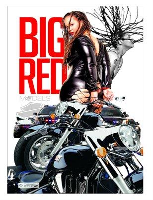 Big Red Motorcycle