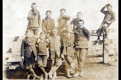1920-1921 6th grade Boys, Hill School, Jefferson County, Ohio