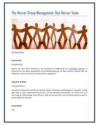 The Harver Group Management: Das Harver Team
