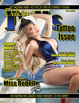 Delicious Dolls June 2021 Tattoo Issue Miss Rebelle Fox Cover