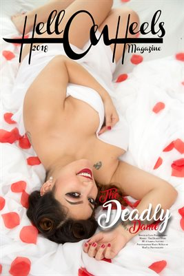 2018 Hell on Heels Magazine Month of Love poster series The Deadly Dame