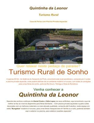 A Quintinha da Leonor Turismo Rural Douro Norte Casa de férias com Piscina Bungalow piscina aquecida parque infantil escapadinha