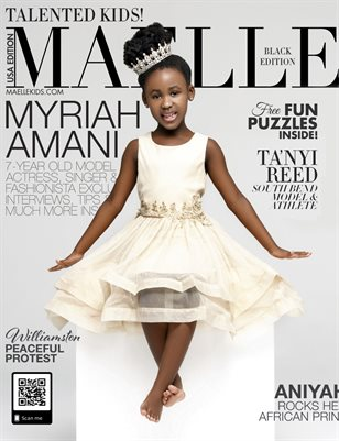 Maelle Kids Magazine Black Edition | Princess Mariah Amani