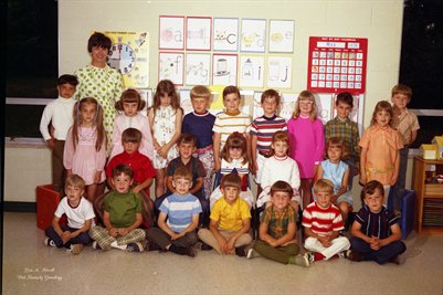(PHOTO2 ) FIRST BAPTIST CHURCH KINDERGARTEN MAY 24, 1971