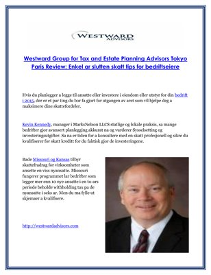 Westward Group for Tax and Estate Planning Advisors Tokyo Paris Review