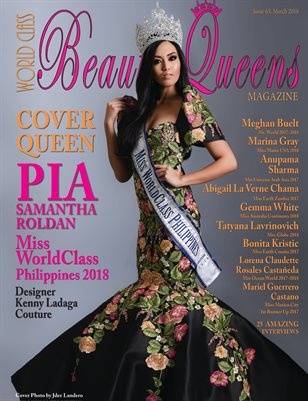 World Class Beauty Queens Magazine issue 63 with Pia Samantha Roldan