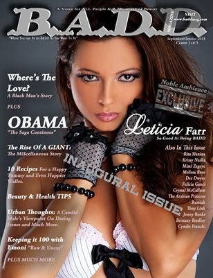 B.A.D.D. Magazine's Inaugural Issue Cover 1 of 3
