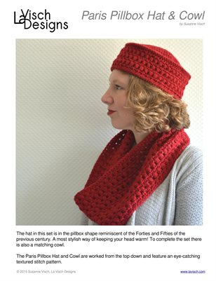 Paris Pillbox Hat & Cowl