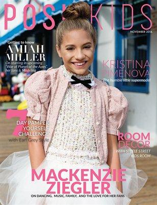 Posh Kids Magazine November 2016 - Mackenzie Ziegler