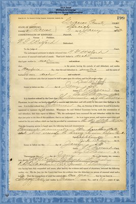 1923 State of Kentucky vs. N.G. Wilford, Graves County, Kentucky