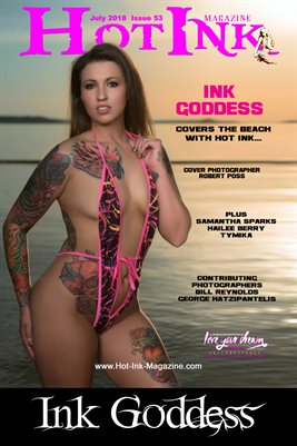 HOT INK MAGAZINE COVER POSTER - Cover Model Ink Goddess - July 2018