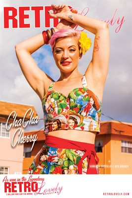 Retro Lovely No.96 – ChaCha Cherry Cover Poster