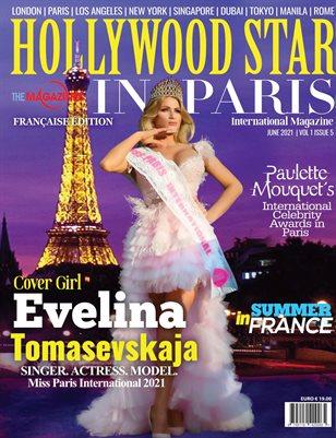 HOLLYWOOD STAR IN PARIS MAGAZINE JUNE 2021