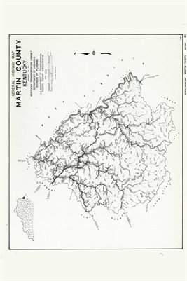 Martin County, Kentucky Map