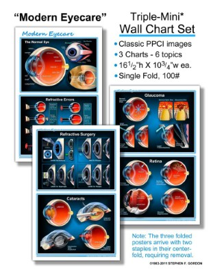"PPCI ""Modern Eyecare"" Triple-Mini, 3 Wall Chart Set"