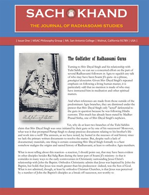 The Journal of Radhasoami Studies