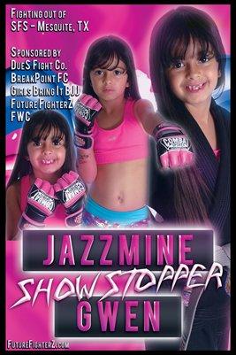 Jazzmine Gwen Pink/Blue - Poster