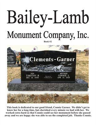 Bailey-Lamb Monuments 2014