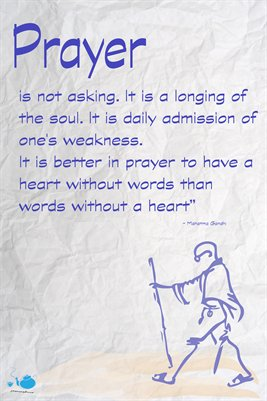 Prayer by Gandhi