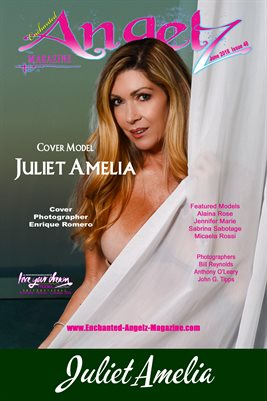 ENCHANTED ANGELZ MAGAZINE COVER POSTER - Cover Model Juliet Amelia - June 2018