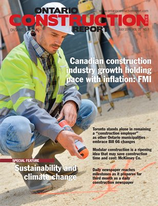Ontario Construction Report (July 2019