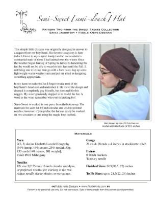Semi-Sweet (semi-slouch) Hat