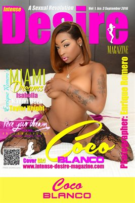 INTENSE DESIRE MAGAZINE COVER POSTER - Cover Girl Coco Blanco - September 2016