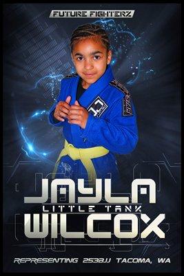 Jayla Wilcox Futuristic - Poster