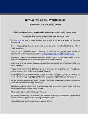 Review Tips by the Avanti Group: Vanligste Reise Svindel og Hvordan du kan Unngå Dem