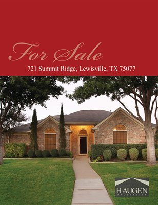 Haugen Properties - 721 Summitt Ridge, Lewisville, Texas 75077
