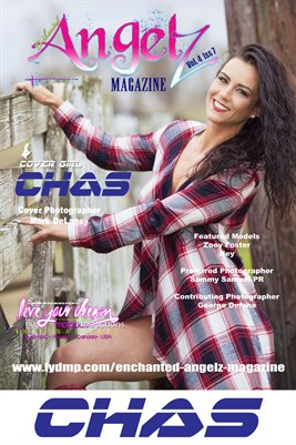 ENCHANTED ANGELZ MAGAZINE COVER POSTER - Cover Girl Chas - June 2017