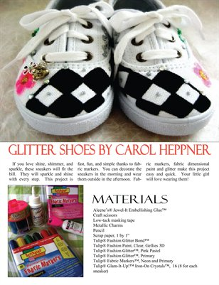 Glitter Sneakers Tutorial